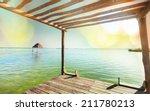 boardwalk on beach | Shutterstock . vector #211780213