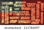 travel related tags cloud on... | Shutterstock . vector #211782097