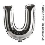 chrome silver balloon font part ... | Shutterstock . vector #211790857