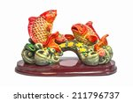 An Image Of Chinese Fish Statu...