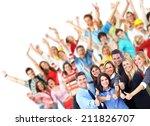group of workers people.... | Shutterstock . vector #211826707