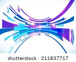 blue perspective bow lines... | Shutterstock . vector #211837717