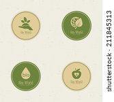 abstract eco world labels on a...   Shutterstock .eps vector #211845313