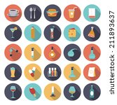 flat design icons for food and...