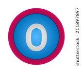 vector alphabet  number 0  eps10 | Shutterstock .eps vector #211897897