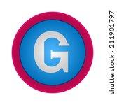 vector alphabet  letter g  eps10 | Shutterstock .eps vector #211901797