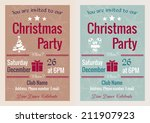vector set of christmas party... | Shutterstock .eps vector #211907923