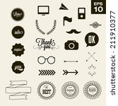 elements hipster typography... | Shutterstock .eps vector #211910377