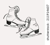 vector ink drawing stylized... | Shutterstock .eps vector #211914607