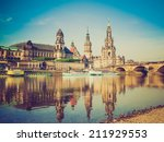 dresden cathedral of the holy... | Shutterstock . vector #211929553