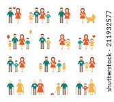 happy family set | Shutterstock .eps vector #211932577