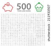 set of 500 standard universal... | Shutterstock .eps vector #211933507