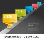 timeline paper origami design... | Shutterstock .eps vector #211952653