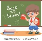 schoolboy school knowledge... | Shutterstock .eps vector #211969567