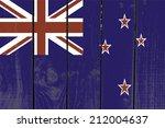 new zealand flag on wooden... | Shutterstock . vector #212004637