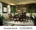 dining room architecture stock... | Shutterstock . vector #212033833
