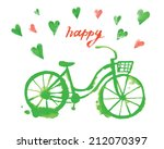hand drawn stylish watercolor... | Shutterstock .eps vector #212070397
