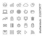 25 outline  universal big data  ... | Shutterstock .eps vector #212075977