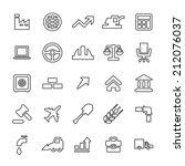 25 outline  universal economy... | Shutterstock .eps vector #212076037
