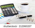 business accounting  | Shutterstock . vector #212083207
