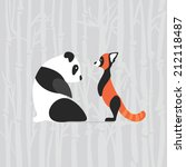 Cartoon Giant And Red Panda...
