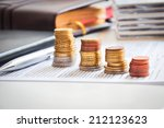 money ladder or financial... | Shutterstock . vector #212123623