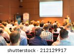 business conference and... | Shutterstock . vector #212129917