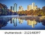 atlanta  georgia  usa midtown... | Shutterstock . vector #212148397