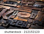 random collection of antique... | Shutterstock . vector #212152123