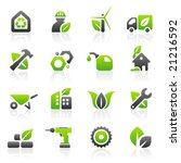 set of 16 environmental green... | Shutterstock .eps vector #21216592