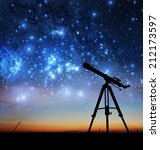 Silhouette Telescope Elements This Image - Fine Art prints
