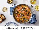 Typical Spanish Seafood Paella...