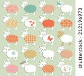 set of different sheep  hand... | Shutterstock .eps vector #212196973