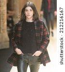 barcelona   june 30  a model... | Shutterstock . vector #212216167