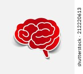 brain sticker  realistic design ... | Shutterstock .eps vector #212220613