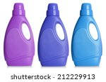 Plastic Bottles Of Cleaning...