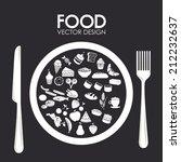 food design over black... | Shutterstock .eps vector #212232637