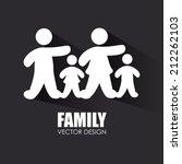 family design over gray... | Shutterstock .eps vector #212262103