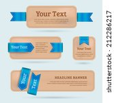 a set of vector paper banners... | Shutterstock .eps vector #212286217