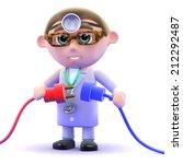 3d render of a doctor holding... | Shutterstock . vector #212292487