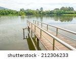 stainless steel bridge or pier... | Shutterstock . vector #212306233