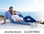 romantic happy young couple... | Shutterstock . vector #212307883