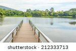 stainless steel bridge or pier... | Shutterstock . vector #212333713