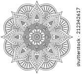 mandala. round ornament pattern....   Shutterstock .eps vector #212342617