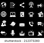 communication icons  | Shutterstock .eps vector #212373283