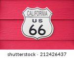 california us route 66 sign on... | Shutterstock . vector #212426437
