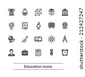 education icons set. | Shutterstock .eps vector #212427247