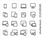 flat line icons device icons... | Shutterstock .eps vector #212428183