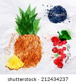 fruit set drawn watercolor... | Shutterstock .eps vector #212434237