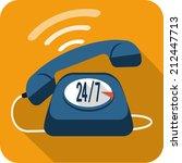 vector  support center call  | Shutterstock .eps vector #212447713